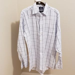 ❤Stafford Men's Easy-Care Broadcloth Fitted Shirt